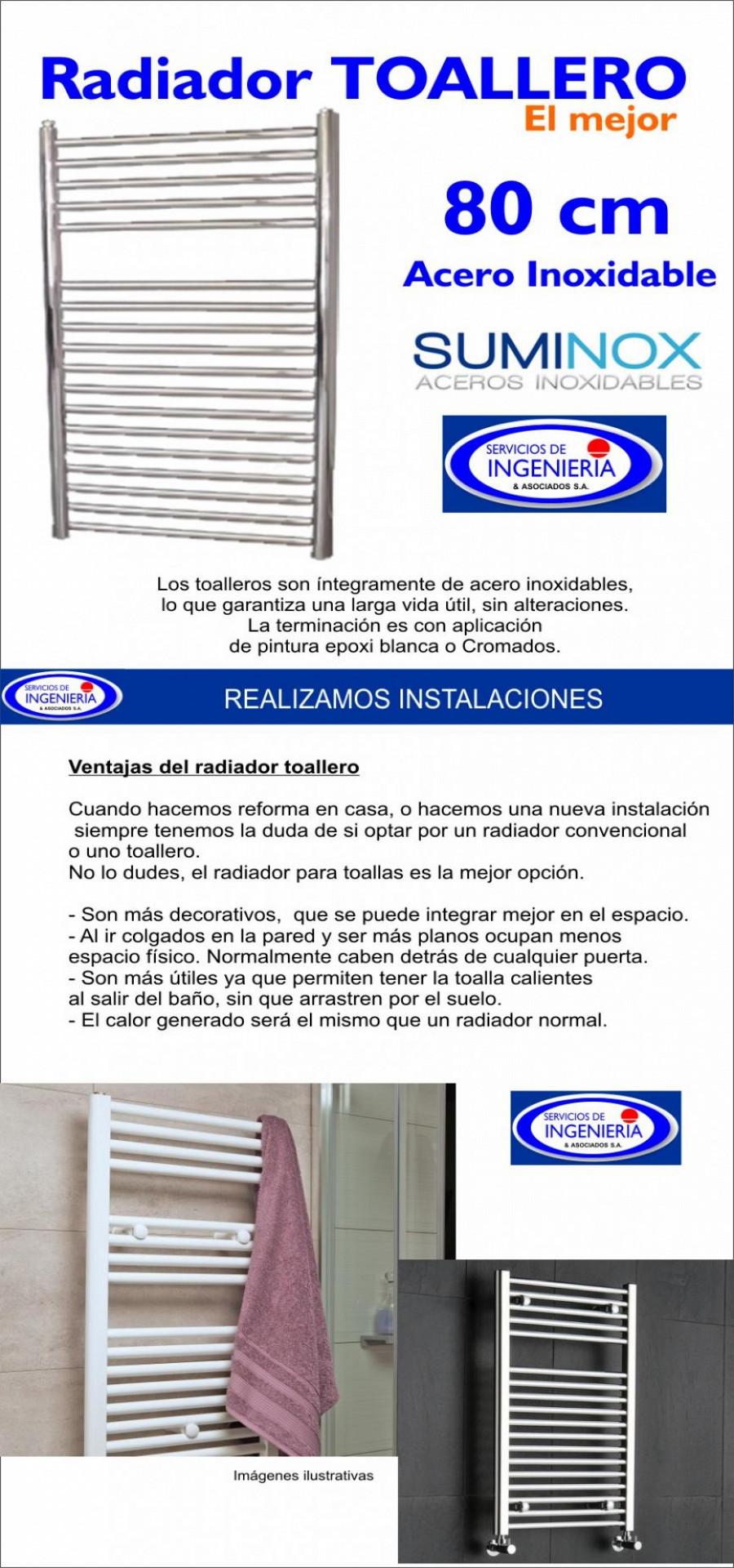 Servicios de ingenieria s a toallero en acero for Toallero acero inoxidable
